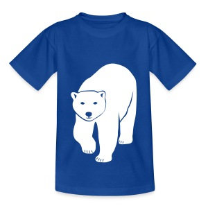 tier t-shirt eisbär polar bear ice knut klimawandel eis nordpol bär stop global warming CO2 - Teenager T-Shirt