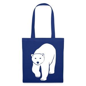 tier t-shirt eisbär polar bear ice knut klimawandel eis nordpol bär stop global warming CO2 - Stoffbeutel