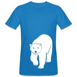 tier t-shirt eisbär polar bear ice knut klimawandel eis nordpol bär stop global warming CO2 - Männer Bio-T-Shirt