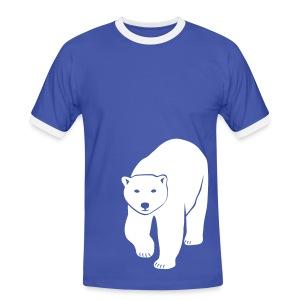 tier t-shirt eisbär polar bear ice knut klimawandel eis nordpol bär stop global warming CO2 - Männer Kontrast-T-Shirt