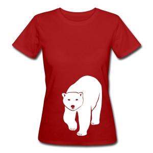 tier t-shirt eisbär polar bear ice knut klimawandel eis nordpol bär stop global warming CO2 - Frauen Bio-T-Shirt