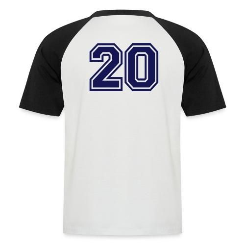 Baseballshirt - Mannen baseballshirt korte mouw