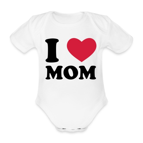 Love Mom Bebe - Body orgánico de maga corta para bebé