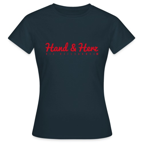 Hand & Herz (rot) - Frauen T-Shirt