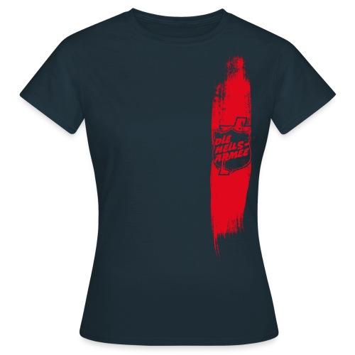 Heilsarmee Shield Streifen (rot) - Frauen T-Shirt