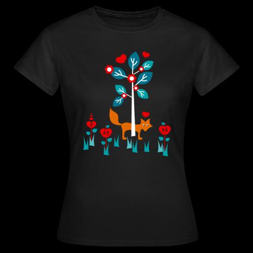 frauen, t-shirt, klassisch, wo ist der fuchs? - Frauen T-Shirt