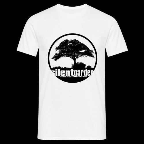 silent garden (black) - Männer T-Shirt