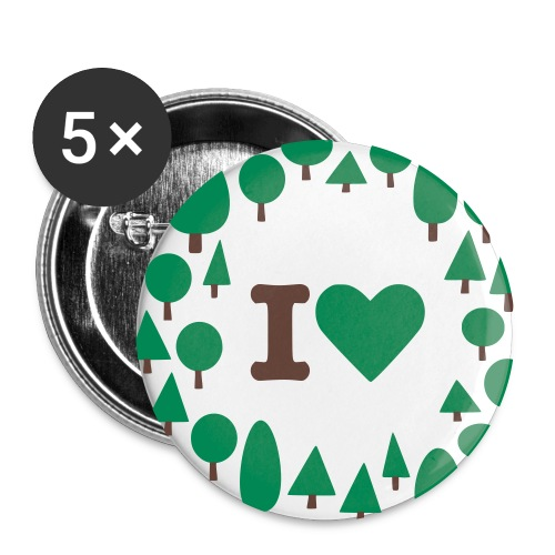 button, trees - Buttons groß 56 mm (5er Pack)