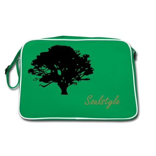 button, trees - Retro Tasche