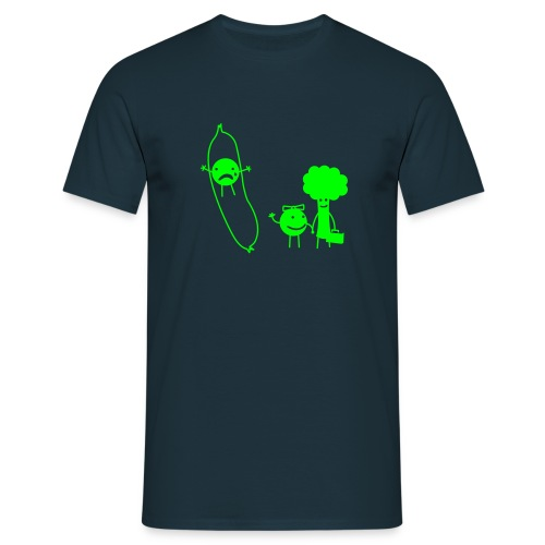 Broken Peapod - Men's T-Shirt