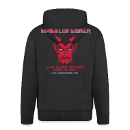 Hoodies & Sweatshirts ~ Men's Premium Hooded Jacket ~ Diabolus Design Zip Hoody