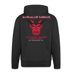 Diabolus Design Zip Hoody - Men's Premium Hooded Jacket