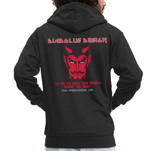 Diabolus Design Zip Hoody - Men's Premium Hooded Jacket