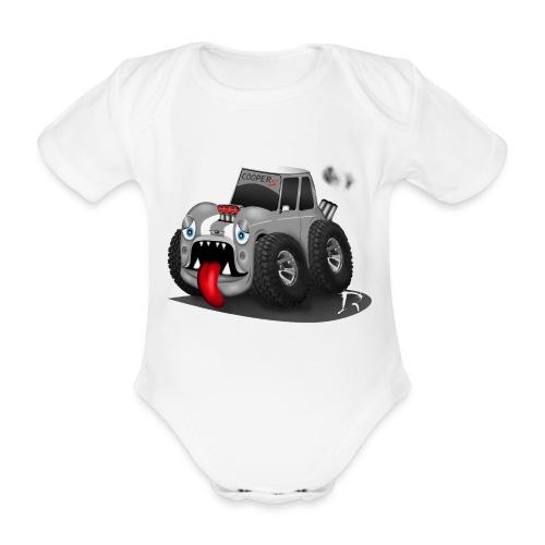 Monstertruckie Mini Rompertje - Baby bio-rompertje met korte mouwen
