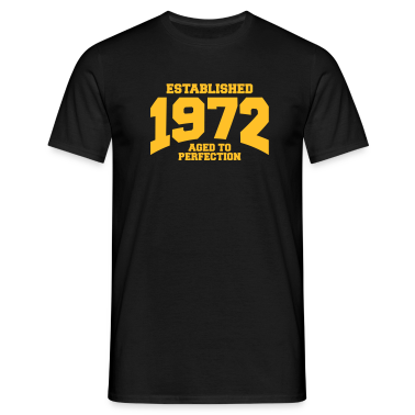 aged to perfection established 1972 (nl) T-shirts