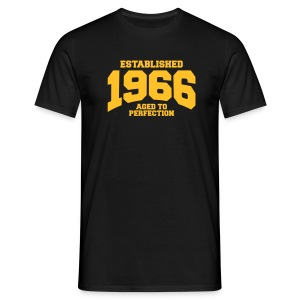 aged to perfection Geburtstag - established 1966 ( - Männer T-Shirt