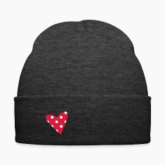 A small dotted heart Caps & Hats