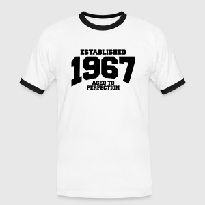 aged to perfection established 1967 (sv) T-shirts - Kontrast-T-shirt herr