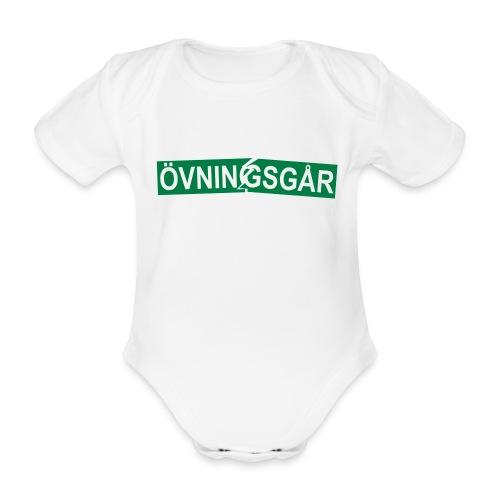 Övningsgår (trasig) body - Ekologisk kortärmad babybody