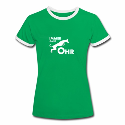 Podenco - Immer ganz Ohr 2 - Frauen Kontrast-T-Shirt
