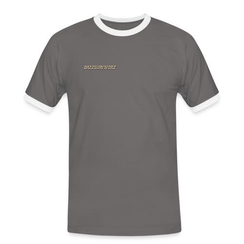 2 kleuren t-shirt BAZZSURVIVORZ - Mannen contrastshirt