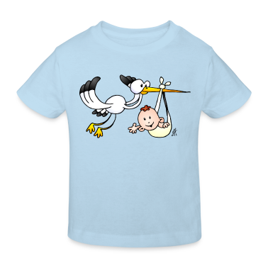 The stork brings the baby. Kids' Shirts