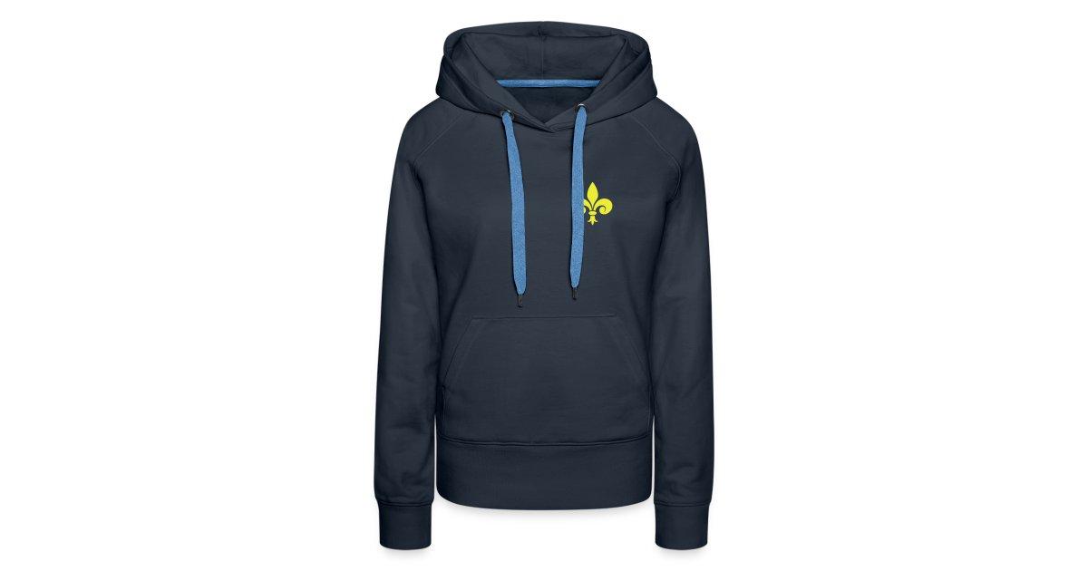 505850ef55559 Sweat-shirt capuche Femme - Fleur de Lys - Sweat-shirt à capuche Premium  pour femmes