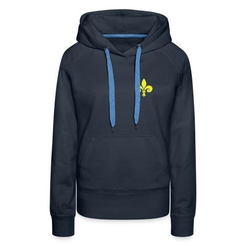 Sweat-shirt capuche Femme - Fleur de Lys - Sweat-shirt à capuche Premium pour femmes