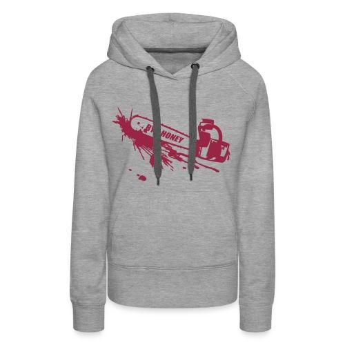 BYE, HONEY! hoodie grey - Frauen Premium Hoodie
