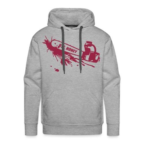 BYE, HONEY! men's hoodie grey - Männer Premium Hoodie