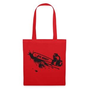BYE, HONEY! bag red - Stoffbeutel