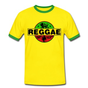 reggae original vibes rasta peace T-Shirts - Men's Ringer Shirt