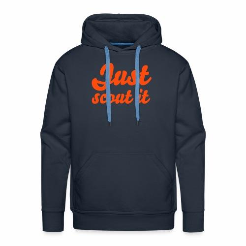 Just scout it - Sweat-shirt à capuche Premium pour hommes
