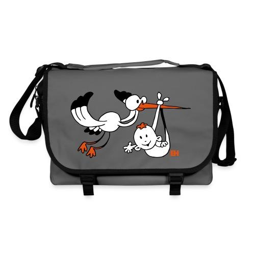 Stork with baby - Shoulder Bag