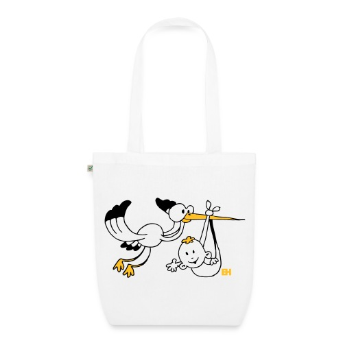 Stork with baby - EarthPositive Tote Bag