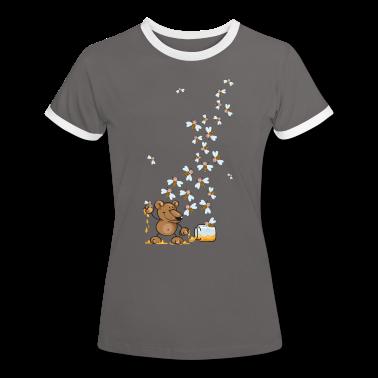 The bear, the honey and many bees T-Shirts