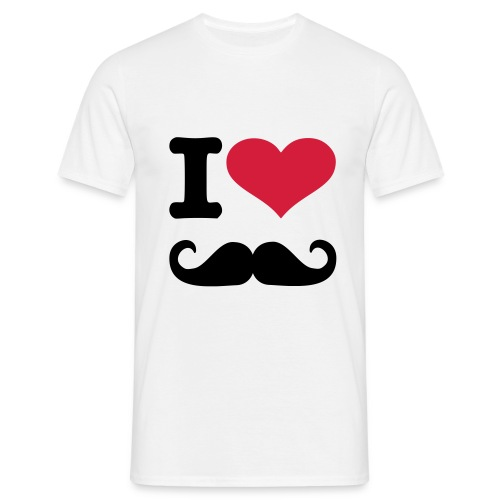 I Heart moustache - Men's T-Shirt