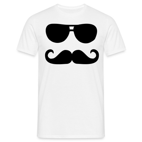Glasses moustache Mens - Men's T-Shirt