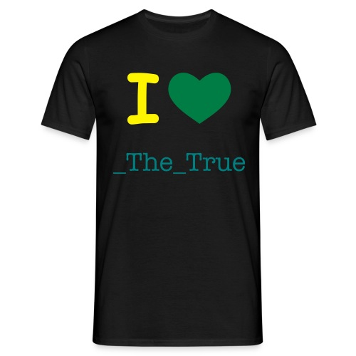 I Love _The_True - Mannen T-shirt