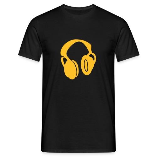 headphones - Männer T-Shirt