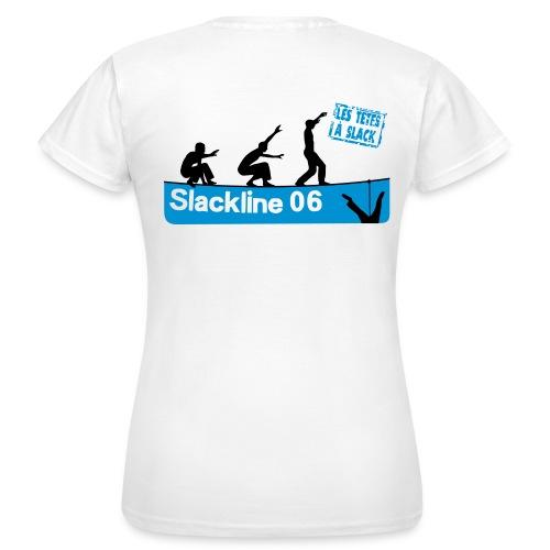 Les Têtes à Slack - Logo au dos (femme) - Women's T-Shirt