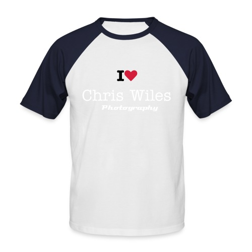 I love Chris Wiles Photography - Men's Baseball T-Shirt