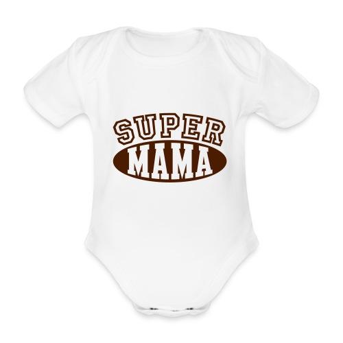Body super mama brown - Baby Bio-Kurzarm-Body