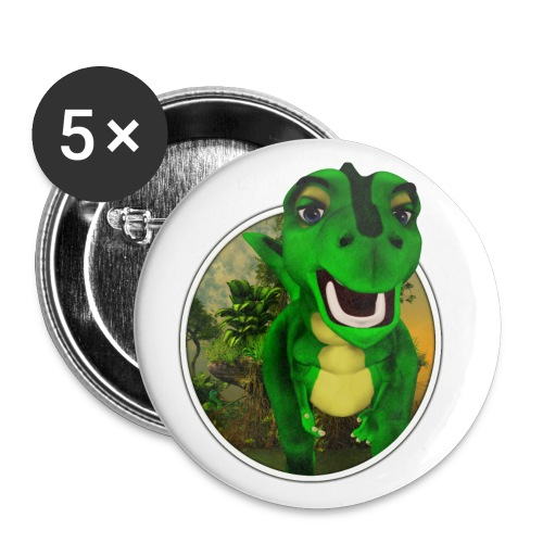 Dino - Buttons groß 56 mm (5er Pack)