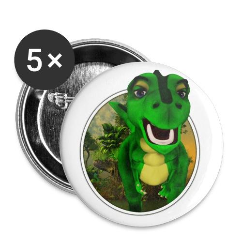 Dino - Buttons mittel 32 mm (5er Pack)