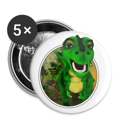 Dino - Buttons klein 25 mm (5er Pack)