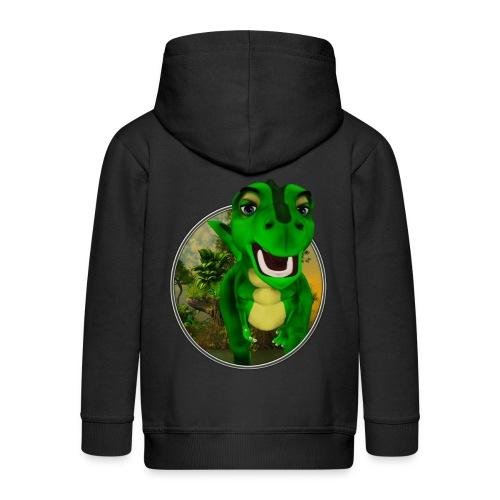 Dino - Kinder Premium Kapuzenjacke