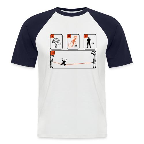Slackline instructions (man) - Men's Baseball T-Shirt