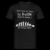 Tee shirts ~ Tee shirt Homme ~ Tee shirt le breton tient la maree