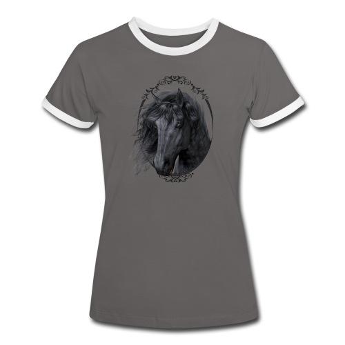 Black Beauty - Frauen Kontrast-T-Shirt